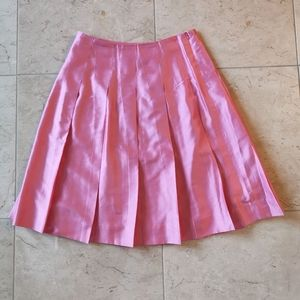 NWOT Banana Republic Raw  Silk Pleated skirt  Pink